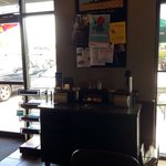 View of customer counter/ front door