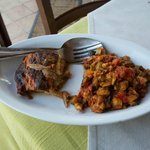Eggplant parmesan and caponata