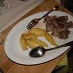 Roast pork, roasted potatoes