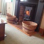 Log burner in the lounge