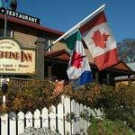 Garden with Salt Spring & Canada Flags