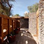 outdoor passageway to rooms
