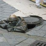 """The """"Rubber Necker"""" Sculpture"""