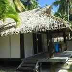 Our beach bungalow with a hammock