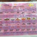 Week 2 Kids club schedule