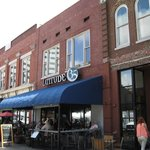 Sidewalk view and outdoor seating