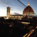 Utsikten från Takterassen på Hotel Cavour i Florens