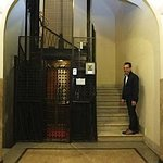 The cute 100+ year old elevator