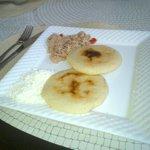 Uno de los desayunos mientras estuve alojada con mi familia