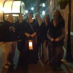 Our ghost tour group with guide Kristina