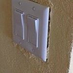 light switch in room Conveys to my comment about repairs and upkeep.