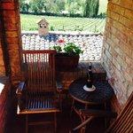 Our private terrace off the bedroom
