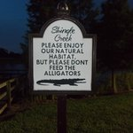 This sign was by the fishing dock