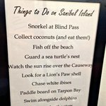 Things to do in Sanibel, nice touch
