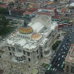 Tower view of Bellas Artes and surrounding area
