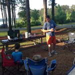 Cooking Breakfast at Sweetwater Campground
