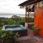 Hot tub & Arenal Lake