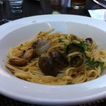 Linguini with clams.