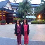 the hotel..