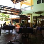 the outside dining area