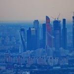 Вид на Москва-сити. 200 мм фокусное, дымка, тень.