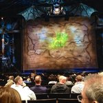 """The stage and surrounding area before """"Wicked"""" began."""