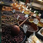 Olives at one of the stalls