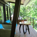 Our' balcony. From here you can see the ocean, the jungle, the grounds but it's still private.