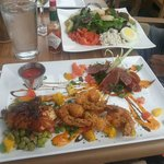 Chef's special and the seafood cobb salad