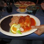 Chicken tamales, rice and beans / Gaby's Cafe, Rhinebeck, NY