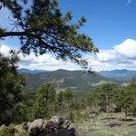 Mountains to the southwest (I think)