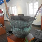 large pot probably used in smelting gold