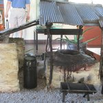 a diorama of a smelting house