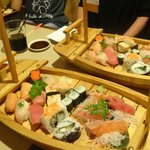 the mixed sushi & sashimi boat