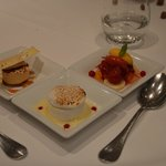 One of the five dessert courses