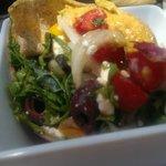 Fatoosh salad with greens