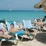 Enjoying our beach time near the Iguana Bar