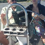 Capt Jim and our daughter sailing