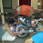 Miracle in Hanksville, an axle nut for a KTM