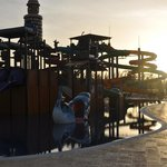 sunset at the waterpark