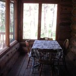 #18 Silver Mountain Lodge screened-in rear patio