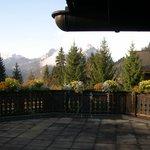 la vue sur les Alpes