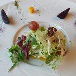 Salat im Restaurant Mediterraneo