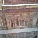 Вид из окна вниз
