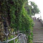 Лестница от водопада