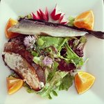 Smoked Brook Trout Salad, locally-caught in Catskill, NY!