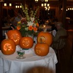 Jack O'Lanterns in dining room closing weekend