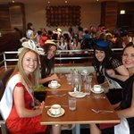 2014 Roses of Tralee having lunch in thpe Hote