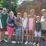 theme park family photo