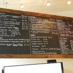Coffee and light bites menu at Moreish